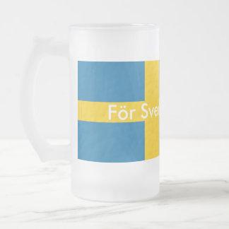 För Sverige-i tiden Frostad Glas Mugg
