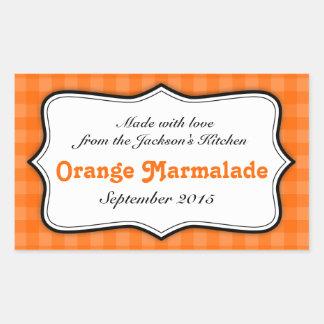 För syltsylt för orange Marmalade klistermärke för