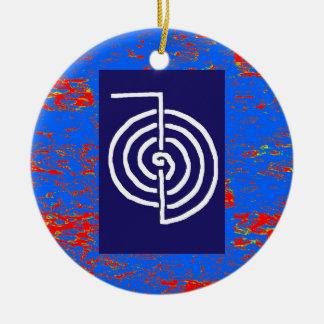 För symbolMALL för CHOKUREI Reiki grundläggande Julgransprydnad Keramik
