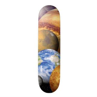 För systemplanet för NASA JPL sol- foto för Skateboard Bräda 21,5 Cm
