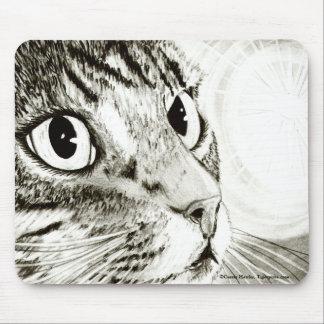 För tabby kattfantasi för fe ljus konst Mousepad Musmatta