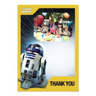 För tackfoto för stjärnkrig R2-D2 mall Kort För Inbjudningar