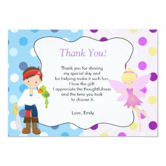 För tackkort för pirat felik barns födelsedag 12,7 x 17,8 cm inbjudningskort
