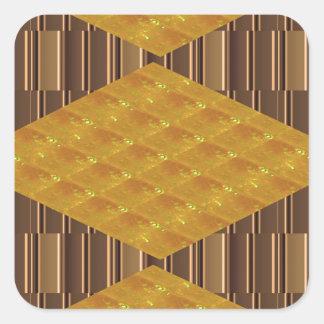 För tallrikardekoration för guld- kexar ROLIGA Fyrkantigt Klistermärke