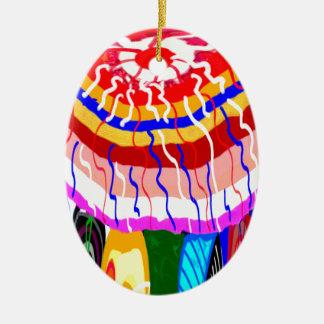 För TÄLTmarkis för festival dekorativ parasoll för Julgransprydnad Keramik