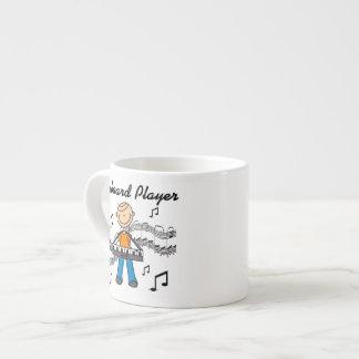 För tangentbordspelare för stick figur Male gåvor Espressomuggar