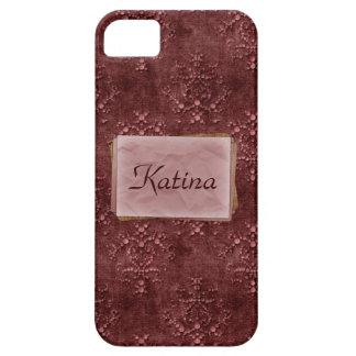 För Tapestrytryck för vin rosa Fodral-Kompis iPhone 5 Cover