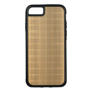 För Tartanpläd för Grunge brun stil för 90-tal Carved iPhone 7 Skal