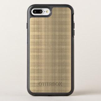 För Tartanpläd för Grunge brun stil för 90-tal OtterBox Symmetry iPhone 7 Plus Skal