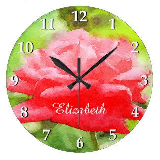 För Tearo för vattenfärg härlig röd hybrid- blomma Stor Klocka