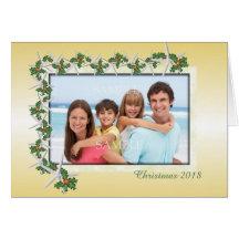 För temafoto för guld- jul tropiskt kort