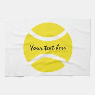 För tennisboll för personlig gul kökshandduk