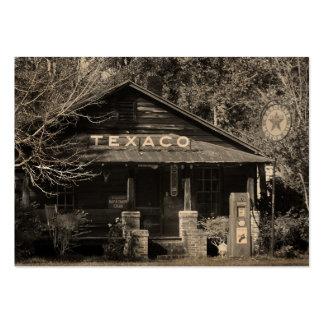 För Texaco för vintage Americana ATC foto Set Av Breda Visitkort
