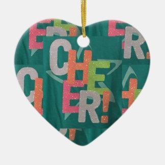 För textmönster för JUBEL färgrik konstnärlig mode Julgransprydnad Keramik