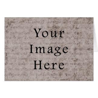 För textParchment för vintage fransk bakgrund för OBS Kort
