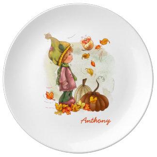 För thanksgivinggåva för anpassningsbar känd porslinstallrik
