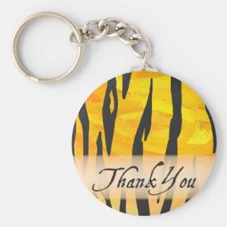 För tigerrand för vild djurt tack rund nyckelring