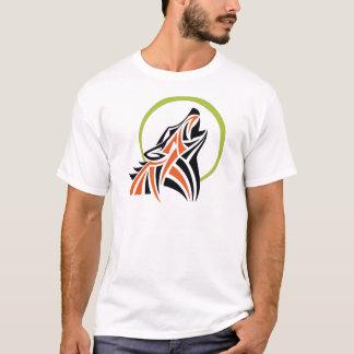 För tjutamåne för stam- varg röd svart skjorta för t-shirt