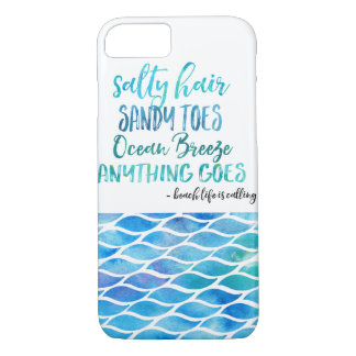 För Toehav för salt hår sandig iphone case för