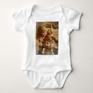 För Toile för vintage kolonial Sepia jultomten T Shirts