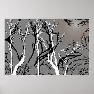 För trädFractal för svart vit dött tryck 3