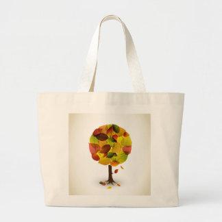 För trädlöv för fantastisk abstrakt färger jumbo tygkasse
