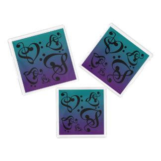 För Trebleklav för purpurfärgad kricka bas- musik Bricka
