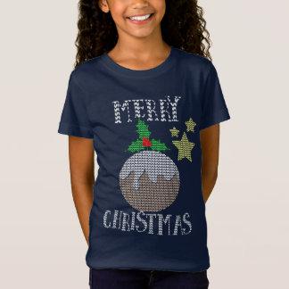 För tröjamönster för god jul grafisk ful julafton tee shirt