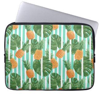 För tropisk Seamless mönster ananasvektor för Laptop Sleeve