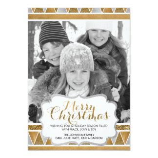 För tryckfoto för glitter stam- julkort 12,7 x 17,8 cm inbjudningskort