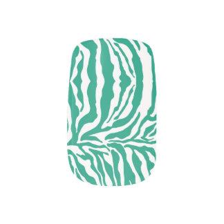 För tryckslyna för sebra djur smaragd) klistermärken för naglar