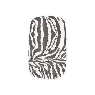 För tryckslyna för sebra djur svart) nagel decaler