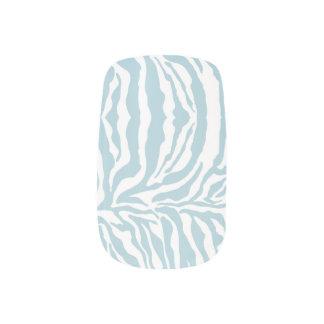 För tryckslyna för sebra djura blått för himmel) nagel art