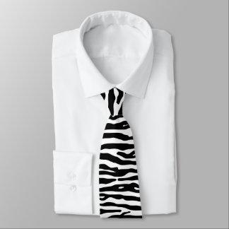 För trycksvart för sebra djurt mönster för randar slips