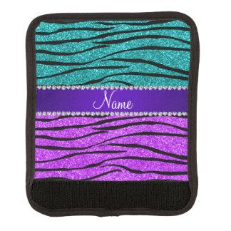 För turkosglitter för känt neon purpurfärgad zebra handtagsskydd