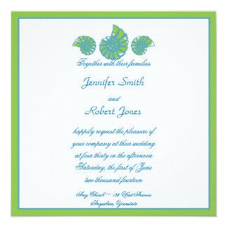 För turkossnäckskal för limefrukt grön inbjudan