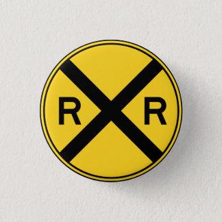 För tvärslåvarning för järnväg framåt RXR vägmärke Mini Knapp Rund 3.2 Cm