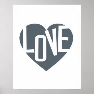 för typografiaffisch för kärlek inspirera tryck