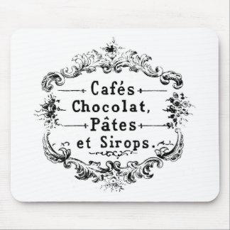 För typografichoklad för vintage fransk design mus mattor