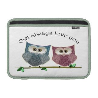 För uggla gullig kärlek alltid, gulligt MacBook air sleeve