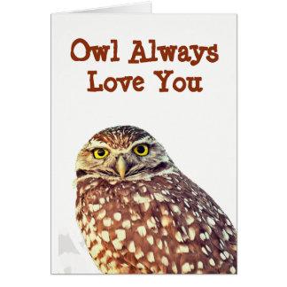 För uggla kärlek alltid dig tillfällenhälsningkort hälsningskort
