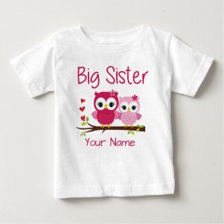 För ugglapersonlig T för storasyster rosa skjorta T Shirts