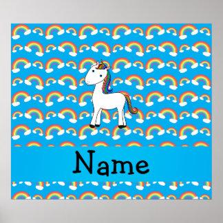 För unicornblått för personlig kända regnbågar