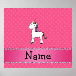 För unicornrosor för personlig känd polka dots poster