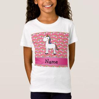För unicornrosor för personlig kända regnbågar t shirt