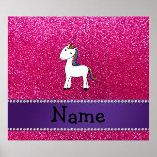 För unicornrosor för personlig känt glitter