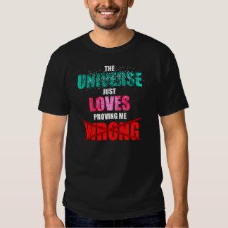 För universum som kärlekarna precis orätt bevisar tshirts