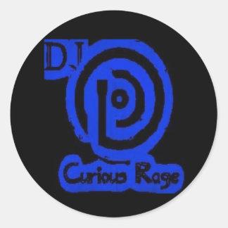 För ursinnelogotyp för DJ nyfiken klistermärke