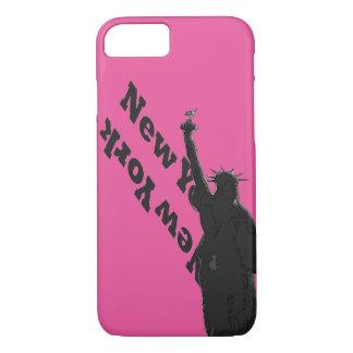 För USA NYC för rosor svart iphone case