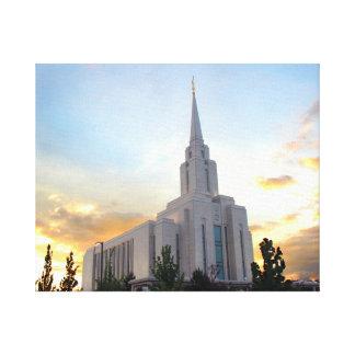 För utah för tempel för Oquirrh berg LDS Canvastryck